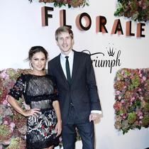 BERLIN, GERMANY - OCTOBER 05: German presenter Nazan Eckes and Owner Roman Braun attend the Florale By Triumph Dinner Hosted By Julianne Moore at Altes Stadthaus on October 5, 2017 in Berlin, Germany. (Photo by Franziska Krug/Getty Images for Triumph)