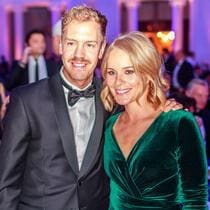 Sebastian VETTEL and wife Hanna Prater-VETTEL during their attendance at the 2018 FIA GALA which has been held in St. Petersburg, Russia 8.12.2018 Honorarpflichtiges Foto, Fee liable image, Copyright © ATP archive [ Rechtehinweis: picture alliance ]