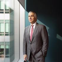 Sergio Ermotti, chief executive officer of UBS Group AG, poses for a photograph following a Bloomberg Television interview in Singapore, on Monday, Sept. 17, 2018. UBS?has picked Frankfurt as its post-Brexit European Union hub and has made preparations for the worst-case scenario of Britain crashing out of the bloc without a trade deal, Ermotti?said. Photographer: Wei Leng Tay/Bloomberg