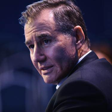 FILE: Ivan Glasenberg, billionaire and chief executive officer of Glencore Plc, speaks on the Bloomberg Television debate panel during the St. Petersburg International Economic Forum (SPIEF) at the Expoforum in Saint Petersburg, Russia, on Thursday, June 1, 2017.