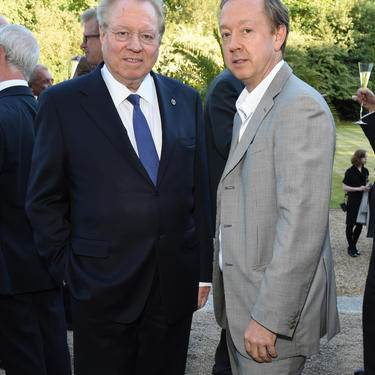 LONDON, ENGLAND - JUNE 10: Henry Angest and Geordie Greig attend the Bell Pottinger Summer Party at Lancaster House on June 10, 2015 in London, England. (Photo by David M. Benett/Getty Images for Bell Pottinger)