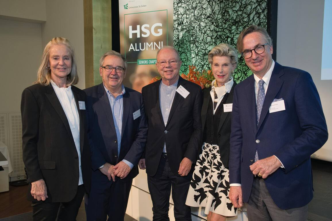 Die Gastgeber:Gitti Hug, Altenburger Ltd.;Max Becker, CGZ Consulting Group Zürich AG ;Otto C. Honegger, DreamTeamVision GmbH;Helen Zimmer-Koch;Alain  Bandle, The Great Idea Group