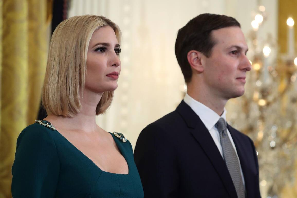 WASHINGTON, DC - DECEMBER 11: White House senior advisors Ivanka Trump and her husband Jared Kushner attend a Hanukkah Reception in the East Room of the White House on December 11, 2019 in Washington, DC. (Photo by Mark Wilson/Getty Images)