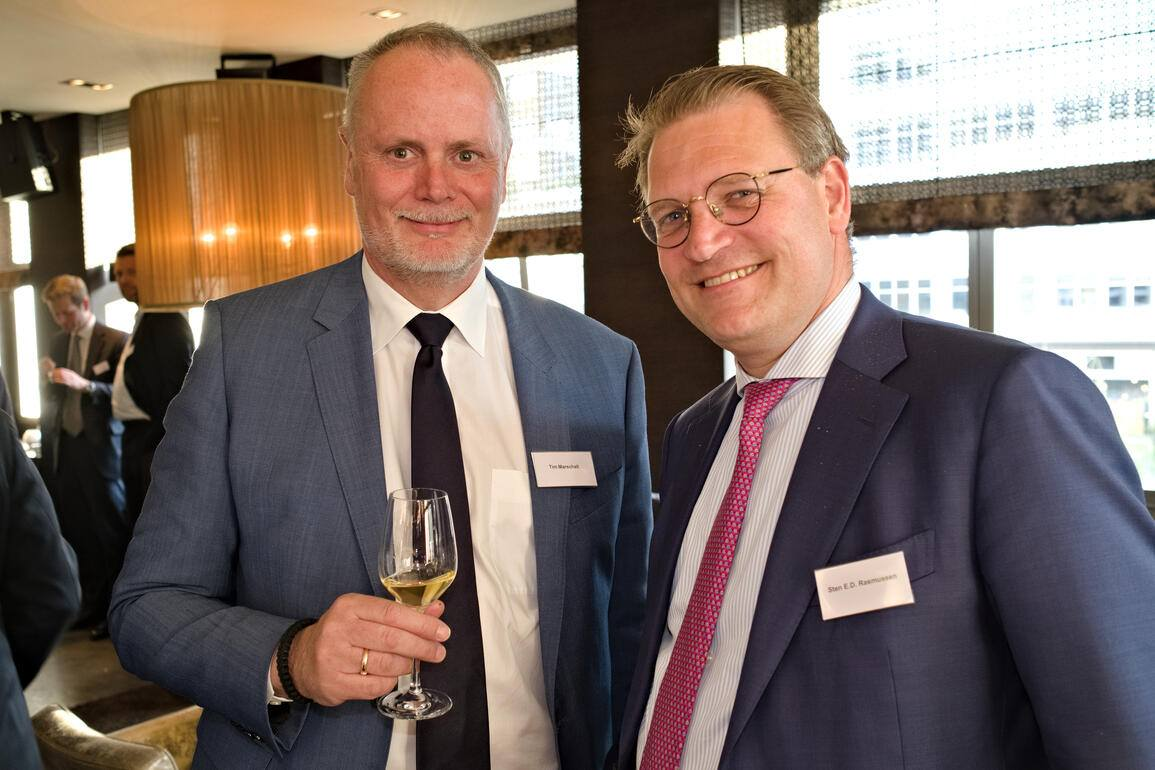 Tim Marschall, Dänischer Honorarkonsul in der Schweiz; Sten E.D. Rasmussen, Head Corporate Centre Advisory, Swiss Re