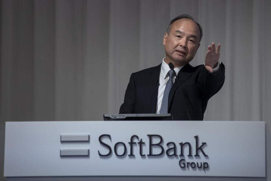 SoftBank Group Corp. founder, Chairman and CEO Masayoshi Son announces his group's earnings results briefing on May 9, 2019 Tokyo, Japan, for the fiscal year ended March 31, 2019. (Photo by Alessandro Di Ciommo/NurPhoto via Getty Images)