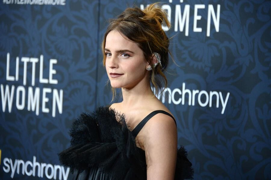 "NEW YORK, NEW YORK - DECEMBER 7: Emma Watson attends ""Little Women"" World Premiere on December 7, 2019 at Museum of Modern Art in New York City. (Photo by Paul Bruinooge/Patrick McMullan via Getty Images)"