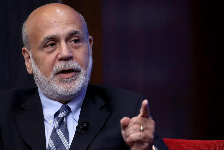 "WASHINGTON, DC - SEPTEMBER 12:  Former Federal Reserve Board Chairman Ben Bernanke answers questions at a conference with former U.S. Treasury Secretary Timothy Geithner and former U.S. Treasury Secretary Hank Paulson at the Brookings Institution September 12, 2018 in Washington, DC. The three participated in a conference on ""Responding to the Global Financial Crisis: What We Did and Why We Did It.""  (Photo by Win McNamee/Getty Images)"