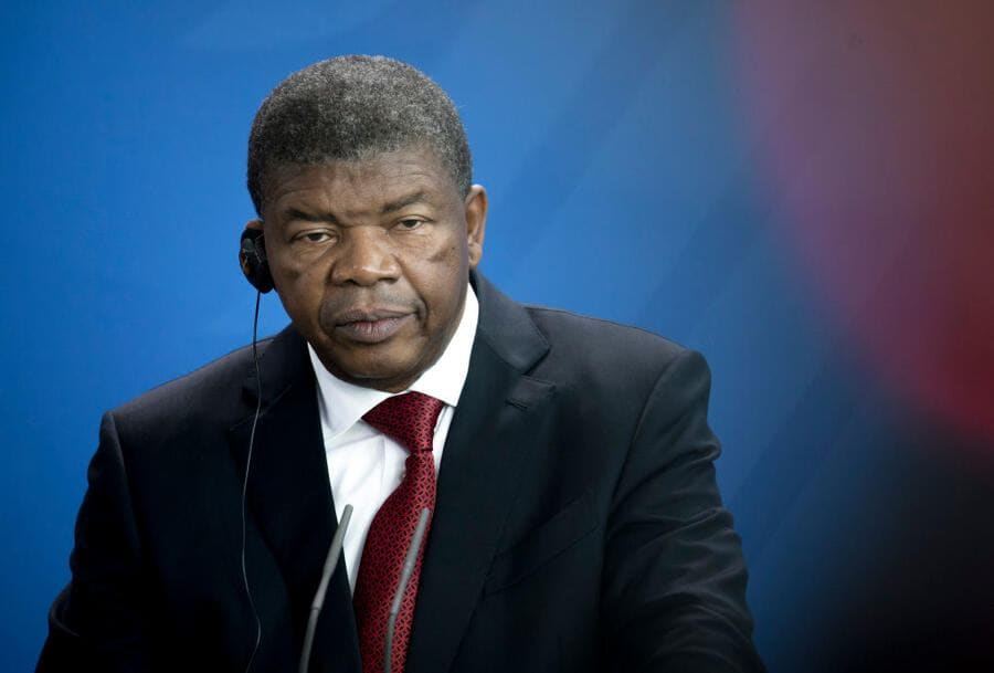 BERLIN, GERMANY - President of the Republic of Angola, Joao Lourenco at the press conference in the Federal Chancellery (Bundeskanzleramt), 2018 in Berlin, Germany.  (Photo by Felix Zahn/Photothek via Getty Images)