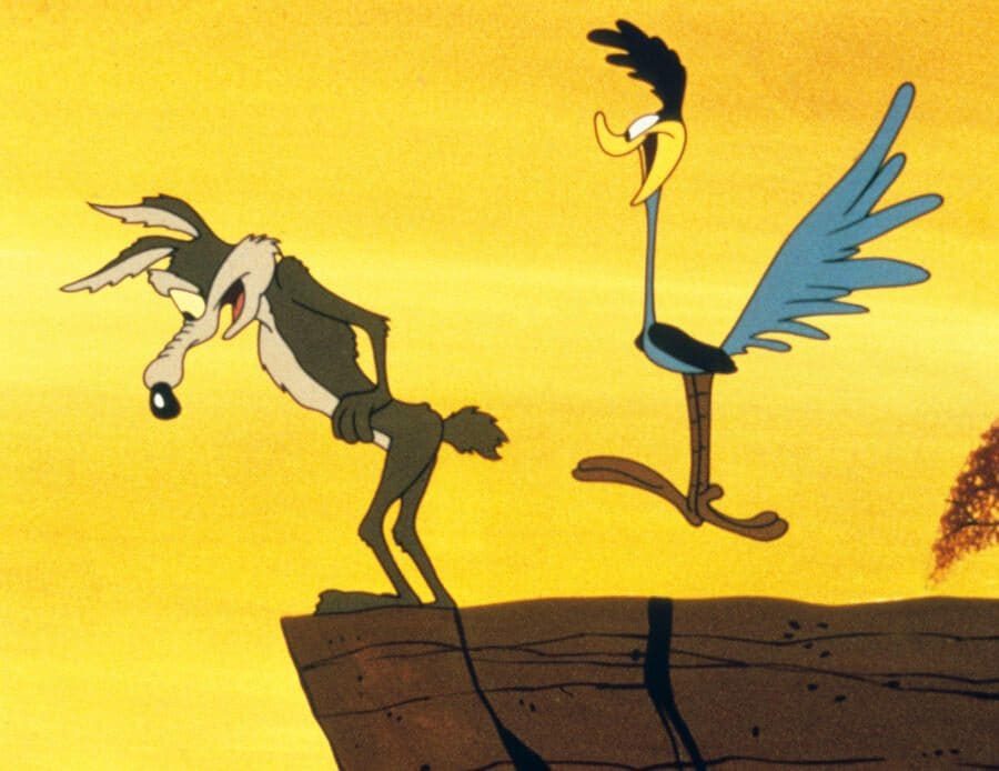 R1538C Bip Bip et Coyote  Road Runner and Wile E. CoyoteTVcree par Chuck Jones.COLLECTION CHRISTOPHEL © Warner Bros.