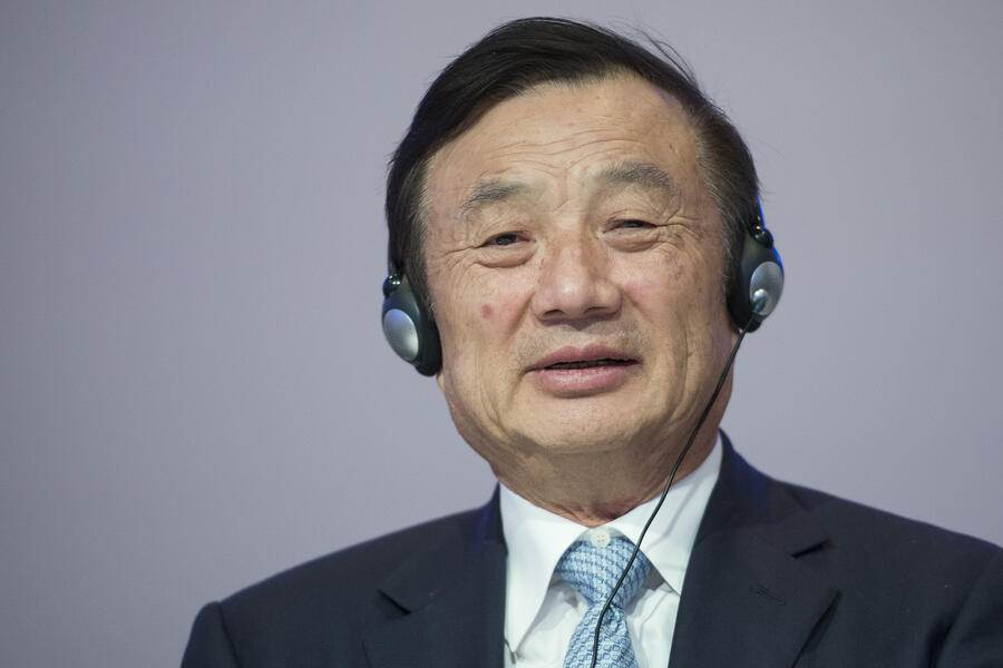 "Ren Zhengfei, Founder and Chief Executive Officer, Huawei Technologies, reacts during a panel session at the 45th Annual Meeting of the World Economic Forum, WEF, in Davos, Switzerland, Thursday, January 22, 2015. The overarching theme of the Meeting, which takes place from 21 to 24 January, is ""The New Global Context"". (KEYSTONE/Jean-Christophe Bott)"
