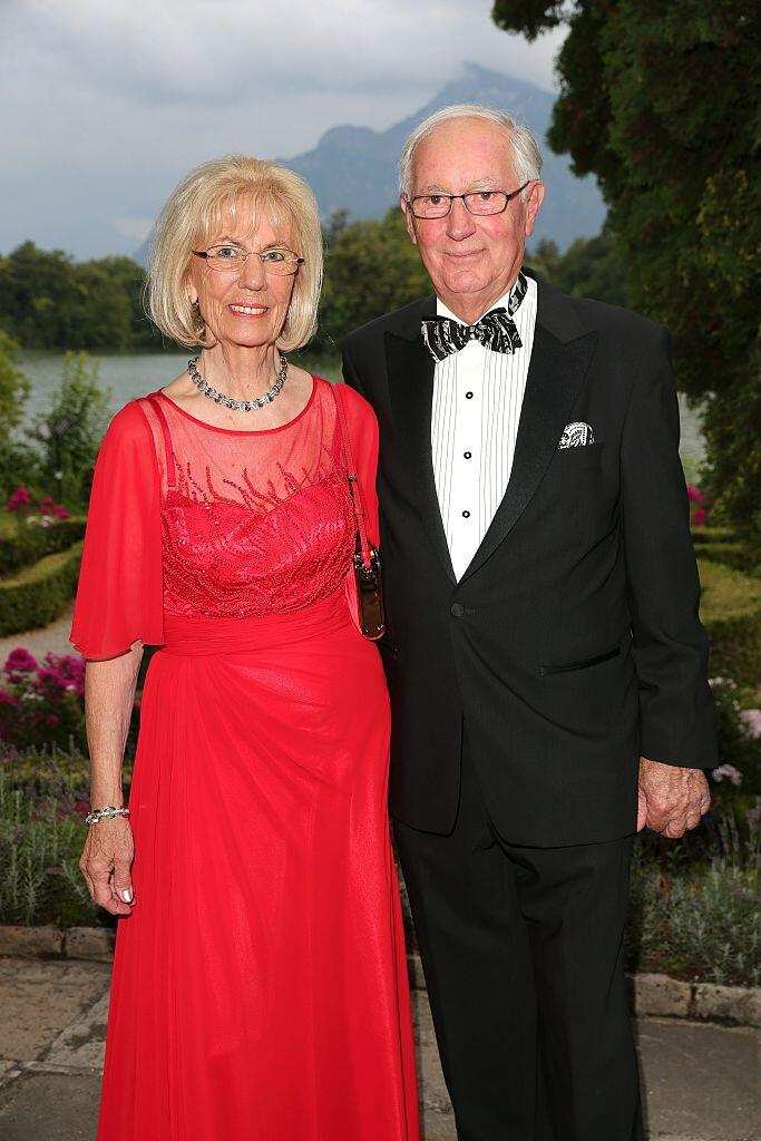 SALZBURG, AUSTRIA - JULY 27:  Erich Kellerhals, founder Media Saturn Holding and Media Markt and his wife Helga Kellerhals during the ISA gala ( International Salzburg Association ) at Schloss Leopoldskron on July 27, 2016 in Salzburg, Austria. (Photo by Gisela Schober/Getty Images)