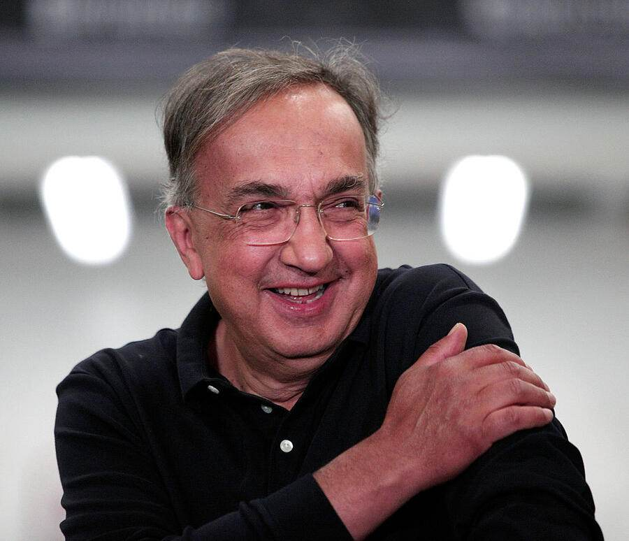STERLING HEIGHTS, MI - AUGUST 26:  Fiat Chrysler Automobiles CEO Sergio Marchionne takes part in an event celebrating the start of production of three all-new stamping presses at the FCA Sterling Stamping Plant August 26, 2016 in Sterling Heights, Michigan. The presses, whose installation began in July 2015 and cost $166 million, will increase the stamping capacity at the plant. (Photo by Bill Pugliano/Getty Images)