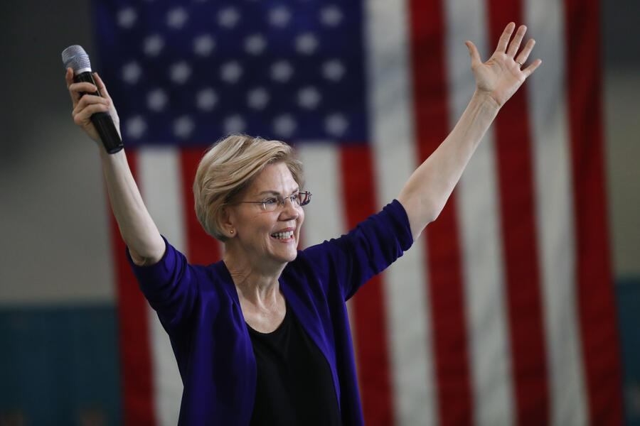 Democratic presidential candidate Sen. Elizabeth Warren, D-Mass., speaks at Focus: HOPE in Detroit, Tuesday, June 4, 2019. (AP Photo/Paul Sancya)