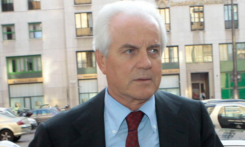 FILE -- OBIT - In this April 17, 2007 file photo Gilberto Benetton arrives for a Telecom board meeting in Milan, Italy. Gilberto Benetton, co-founder of the Benetton Group, died Monday, Oct. 22, 2018. (AP Photo/Luca Bruno, file)