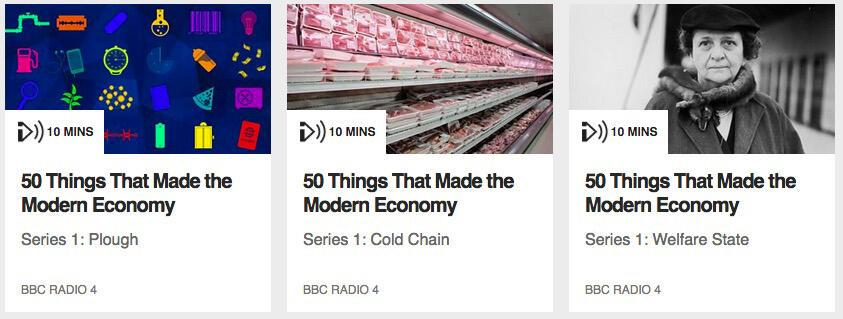 50 Things that make modern economy: Podcast