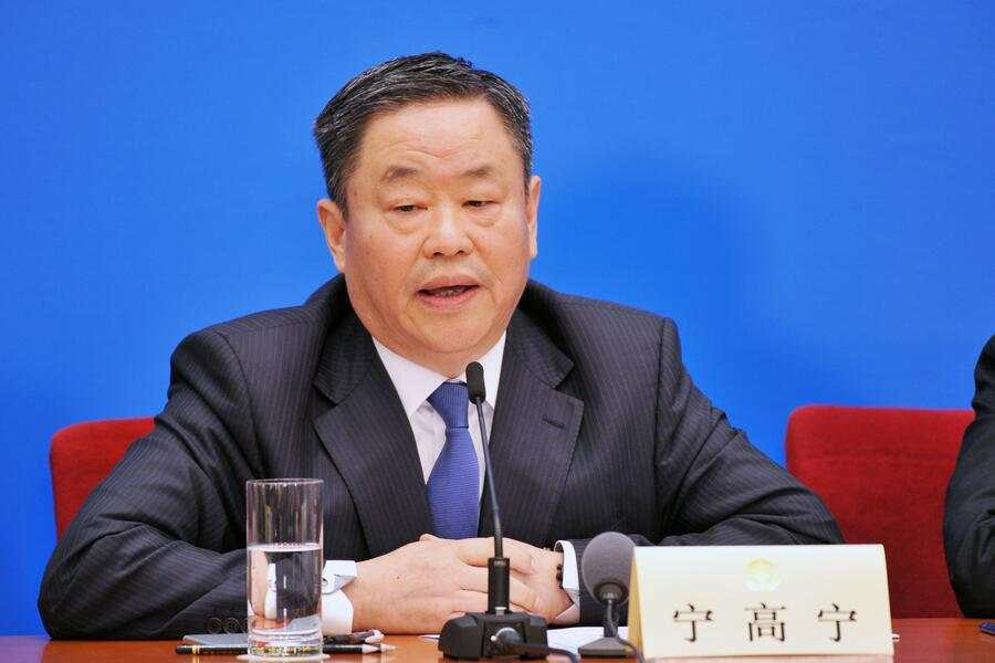 BEIJING, CHINA - MARCH 08:  Sinochem President Frank Ning Gaoning attends a press conference on promoting high-quality economic growth on the sidelines of the first session of the 13th CPPCC National Committee at the Great Hall of the People on March 8, 2018 in Beijing, China.  (Photo by Visual China Group via Getty Images/Visual China Group via Getty Images)