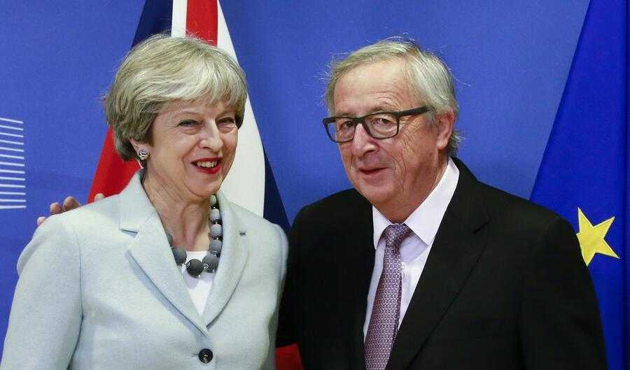 Theresa May und Jean-Claude Juncker