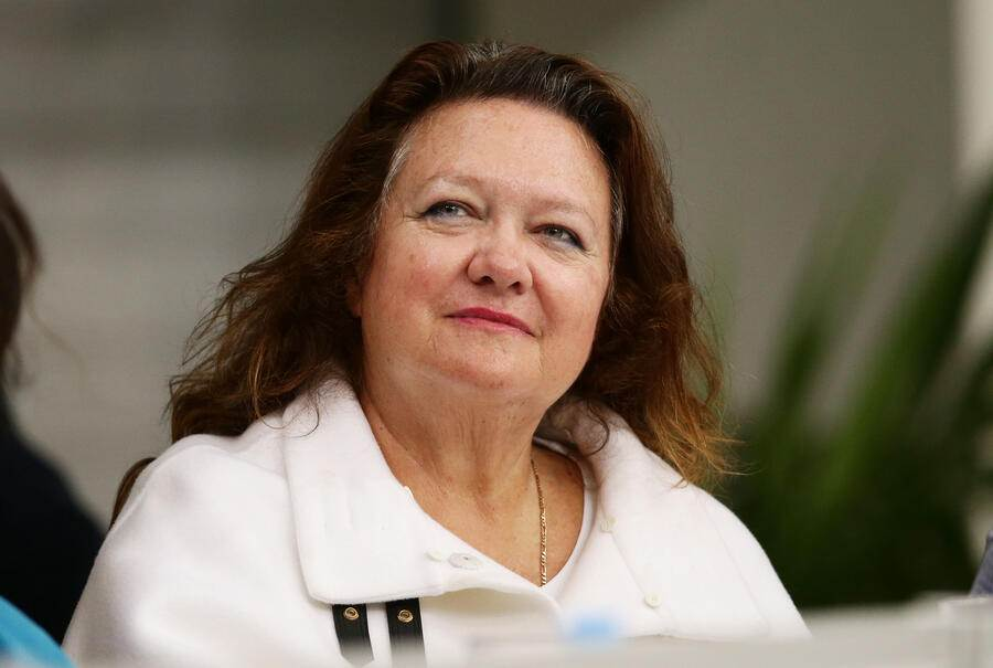 SYDNEY, AUSTRALIA - APRIL 09:  Gina Rinehart attends day seven of the Australian National Swimming Championships at Sydney Olympic Park  Aquatic Centre on April 9, 2015 in Sydney, Australia.  (Photo by Matt King/Getty Images)