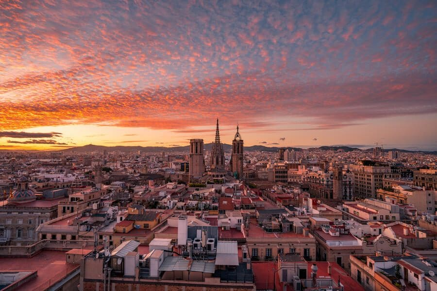 The Cathedral of the Holy Cross and Saint Eulalia, also known as Barcelona Cathedral, is the Gothic cathedral and seat of the Archbishop of Barcelona, Catalonia, Spain.