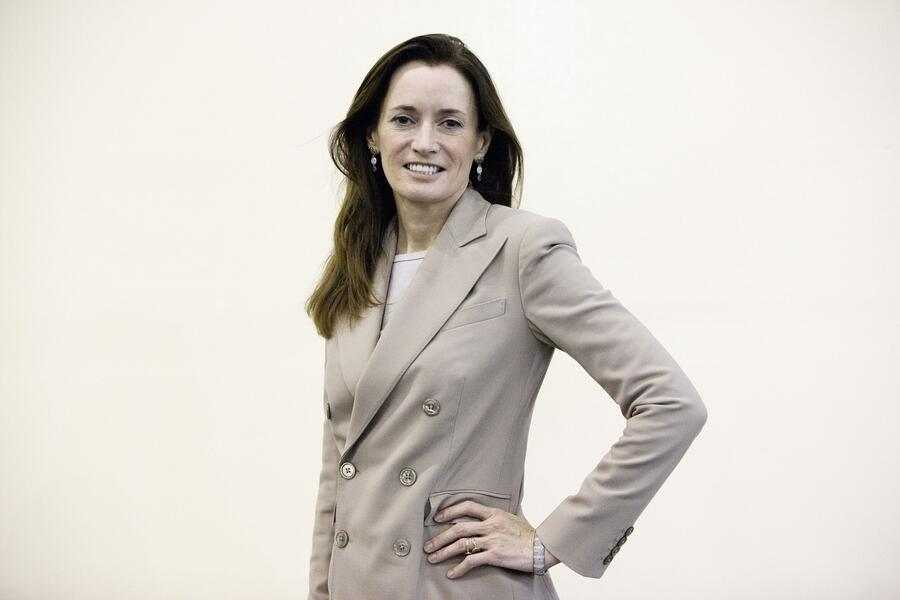 Blythe Masters, chief executive officer of Digital Assets Holdings LLC, poses for a photograph at the Singapore Fintech Conference in Singapore, on Wednesday, Nov. 16, 2016. More than $1 billion of venture capital has been invested into blockchain technology in the past year, said Masters. Photographer: Ore Huiying/Bloomberg