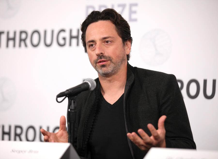 MOUNTAIN VIEW, CA - NOVEMBER 04: Sergey Brin attends the 2019 Breakthrough Prize at NASA Ames Research Center on November 4, 2018 in Mountain View, California.  (Photo by Kelly Sullivan/Getty Images for Breakthrough Prize)