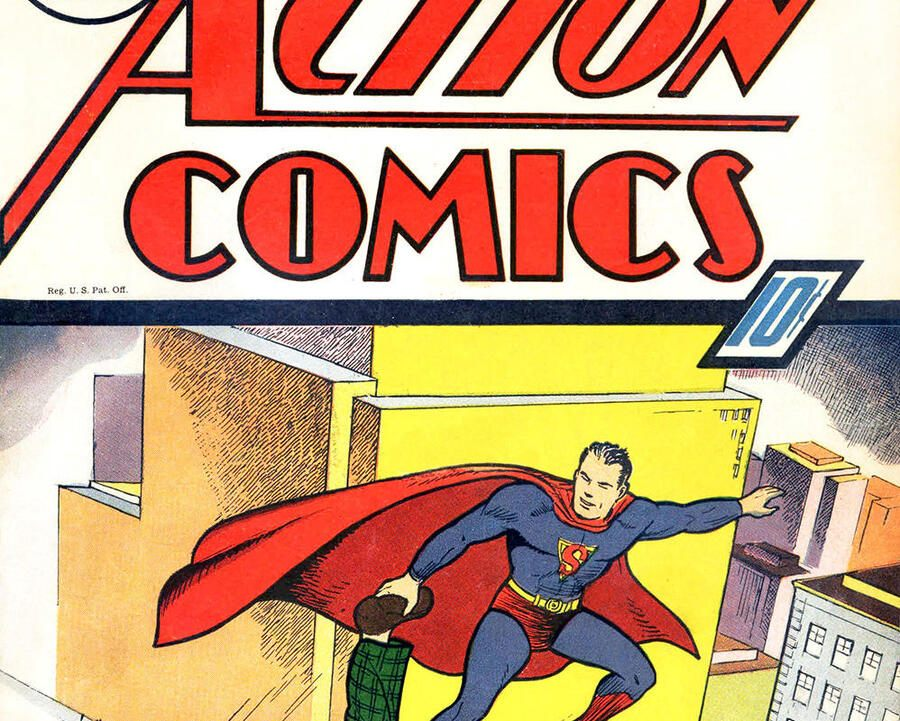Titelbild von «Action Comics» Nr. 7, 1938.