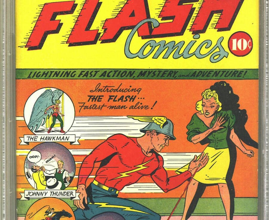 Titelbild von «Flash Comics» Nr. 1, 1940
