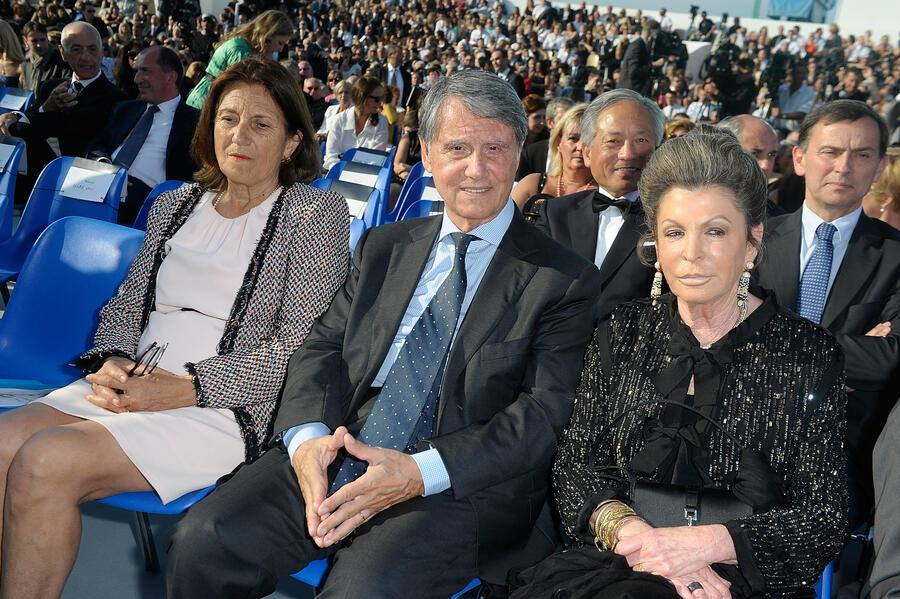 MARSEILLE, FRANCE - MAY 26:  Gianluigi Aponte and wife attend the MSC Divina Cruise Ship Launch on May 26, 2012 in Marseille, France.  (Photo by Luca Teuchmann/Getty Images)