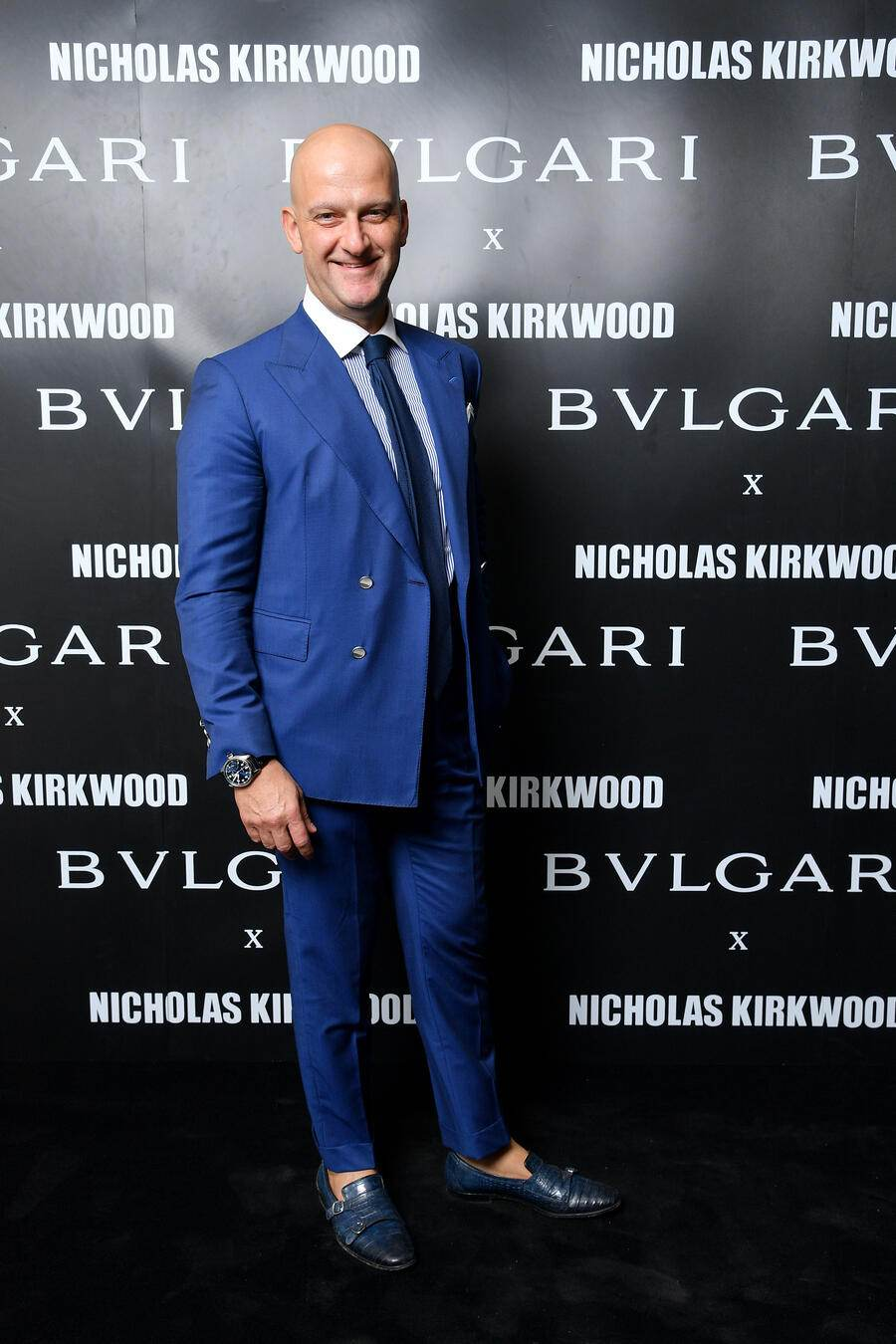 MILAN, ITALY - SEPTEMBER 20: Giuseppe Santoni attends a party celebrating 'Serpenti Forever' By Nicholas Kirkwood for Bvlgari on September 20, 2017 in Milan, Italy.  (Photo by Venturelli/Getty Images for Bvlgari)