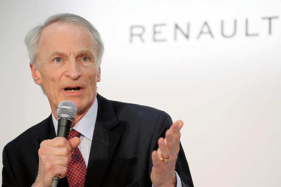 YOKOHAMA, JAPAN - MARCH 12: (CHINA OUT, SOUTH KOREA OUT) Renault SA Chairman Jean-Dominique Senard speaks during a joint news conference on March 12, 2019 in Yokohama, Kanagawa, Japan. They announced on Tuesday that Senard will act as Chairman of the new operating board of the three companies' alliance, with the CEOs of Nissan, Renault, and Mitsubishi Motors also joining the board.  (Photo by The Asahi Shimbun via Getty Images)