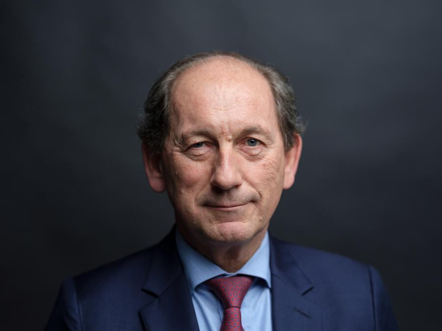 Paul Bulcke, chairman of Nestle SA, poses for a photograph following a Bloomberg Television interview in London, U.K., on Tuesday, Dec. 18, 2018. BulckeÊsignaled he'd consider a complete sale of the company's dermatology unit amid efforts to focus on its core food businesses. Photographer: Simon Dawson/Bloomberg via Getty Images