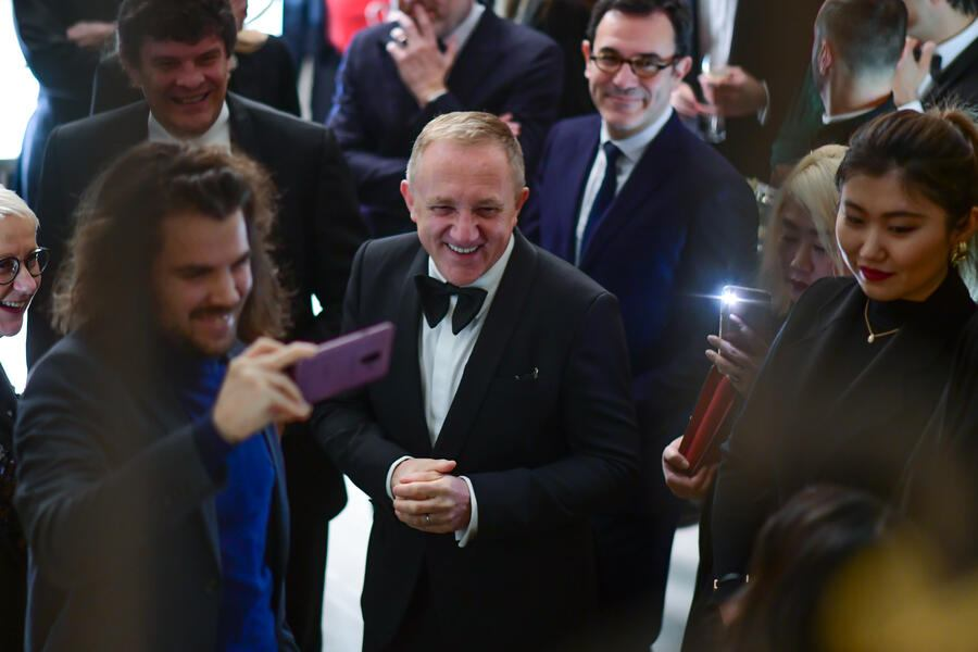 PARIS, FRANCE - JANUARY 20: Francois-Henri Pinault attends Boucheron cocktail party at Place Vendome on January 20, 2019 in Paris, France. (Photo by Anthony Ghnassia/Getty Images)