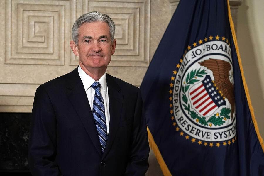 WASHINGTON, DC - FEBRUARY 05:  Jerome Powell looks on after a swearing-in ceremony February 5, 2018 at the Federal Reserve in Washington, DC. Powell succeeds Janet Yellen to become the new chair of the Federal Reserve.  (Photo by Alex Wong/Getty Images)