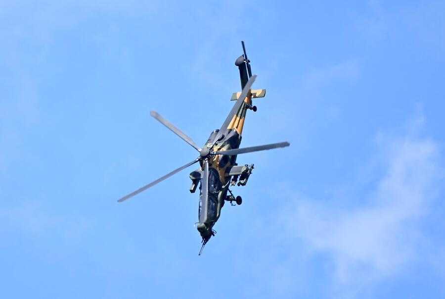 PARIS, FRANCE - JUNE 17: The Atak by Turkish Aerospace performs during the 53rd International Paris Air Show at Le Bourget Airport near Paris, France on June 17, 2019. (Photo by Mustafa Yalcin/Anadolu Agency/Getty Images)