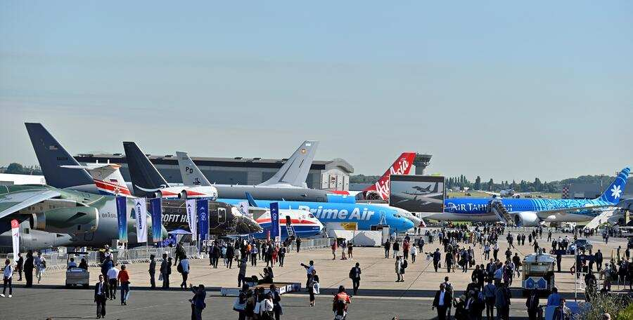 PARIS, FRANCE - JUNE 17: General view of the 53rd International Paris Air Show at Le Bourget Airport near Paris, France on June 17, 2019. (Photo by Mustafa Yalcin/Anadolu Agency/Getty Images)