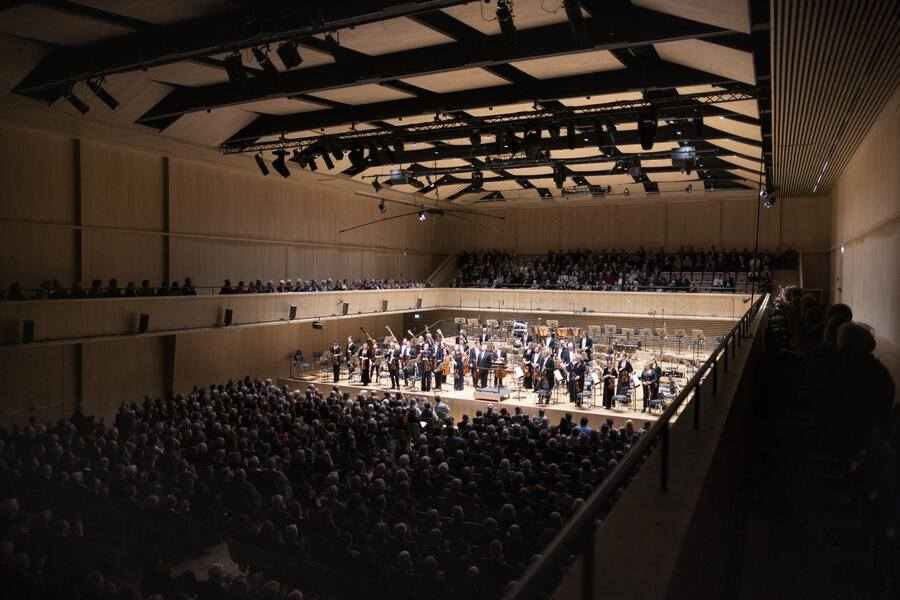 A concert at the Tonhalle Maag, conducted by Paavo Jaervi, chief conductor and artistic director of the Tonhalle Orchestra Zurich, pictured in Zurich, Switzerland, on January 16, 2019.