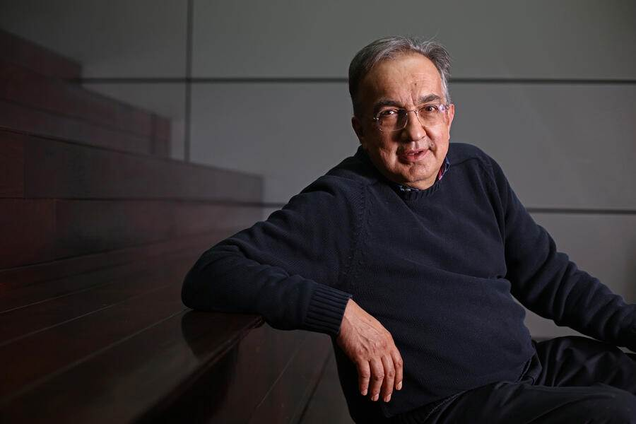Sergio Marchionne, chief executive officer of Fiat Chrysler Automobiles NV, poses for a photograph in London, U.K., on Friday, May 27, 2016. Marchionne received a special cash payment of $35 million last year as compensation for the Fiat-Chrysler merger, he is also entitled to a $12 million payout when he retires. Photographer: Chris Ratcliffe/Bloomberg via Getty Images