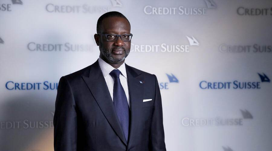 Tidjane Thiam, chief executive officer of Credit Suisse Group AG, poses for a photograph before a Bloomberg Television interview in Zurich, Switzerland, on Wednesday, Oct. 30, 2019.Photographer: Stefan Wermuth/Bloomberg