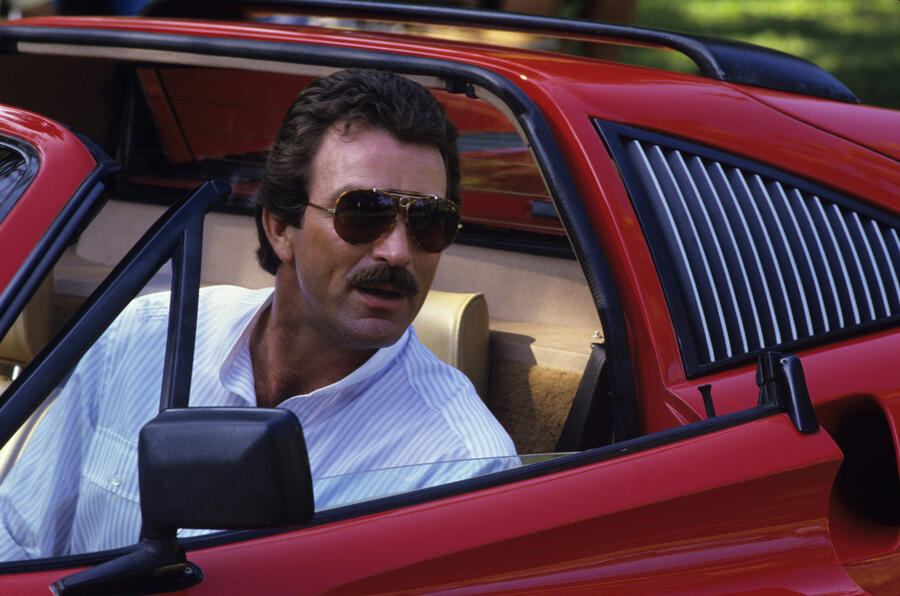 "SONDERKONDITIONEN! PREISABSPRACHE! ""Magnum P.I."" Tom Selleck and his Ferrari 308 GTS QV1985 1985 Gene Trindl"