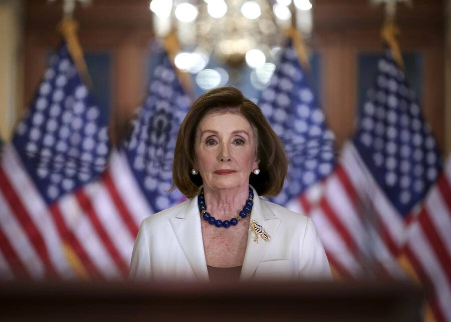 Speaker of the House Nancy Pelosi, D-Calif., arrives to make a statement at the Capitol in Washington, Thursday, Dec. 5, 2019. Pelosi announced that the House is moving forward to draft articles of impeachment against President Donald Trump. (AP Photo/J. Scott Applewhite)