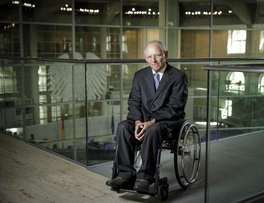 BERLIN, GERMANY - JULY 24:  President of the Bundestag Wolfgang Schaeuble posing for a picture at the Bundestag on July 24, 2018 in Berlin, Germany.  (Photo by Thomas Koehler/Photothek via Getty Images)