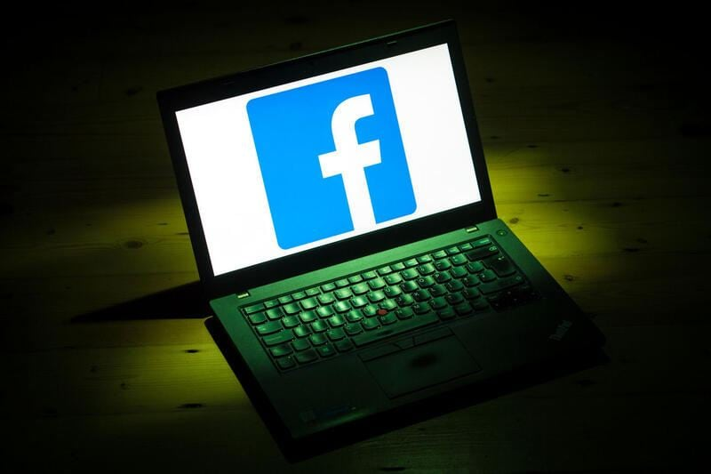 File photo dated 25/03/18 of the Facebook logo on a laptop. The social media giant has revealed that millions of email addresses, phone numbers and other personal user information were compromised during a recent security breach. (KEYSTONE/PRESS ASSOCIATION IMAGES/Dominic Lipinski)