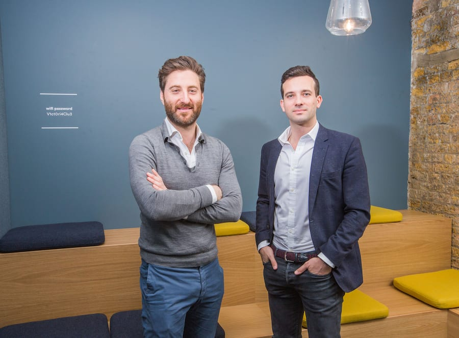 Public co-founders Alexander de Carvalho and Daniel Korski at their offices in Victoria, UK. Public offers tech startups the right combination of insight, networks and capital to help them on their journey to transform public services. © Matt Writtle / Evening Standard / eyevineContact eyevine for more information about using this image:T: +44 (0) 20 8709 8709E: info@eyevine.comhttp://www.eyevine.com (FOTO: DUKAS/EYEVINE) *** Local Caption *** 02106907