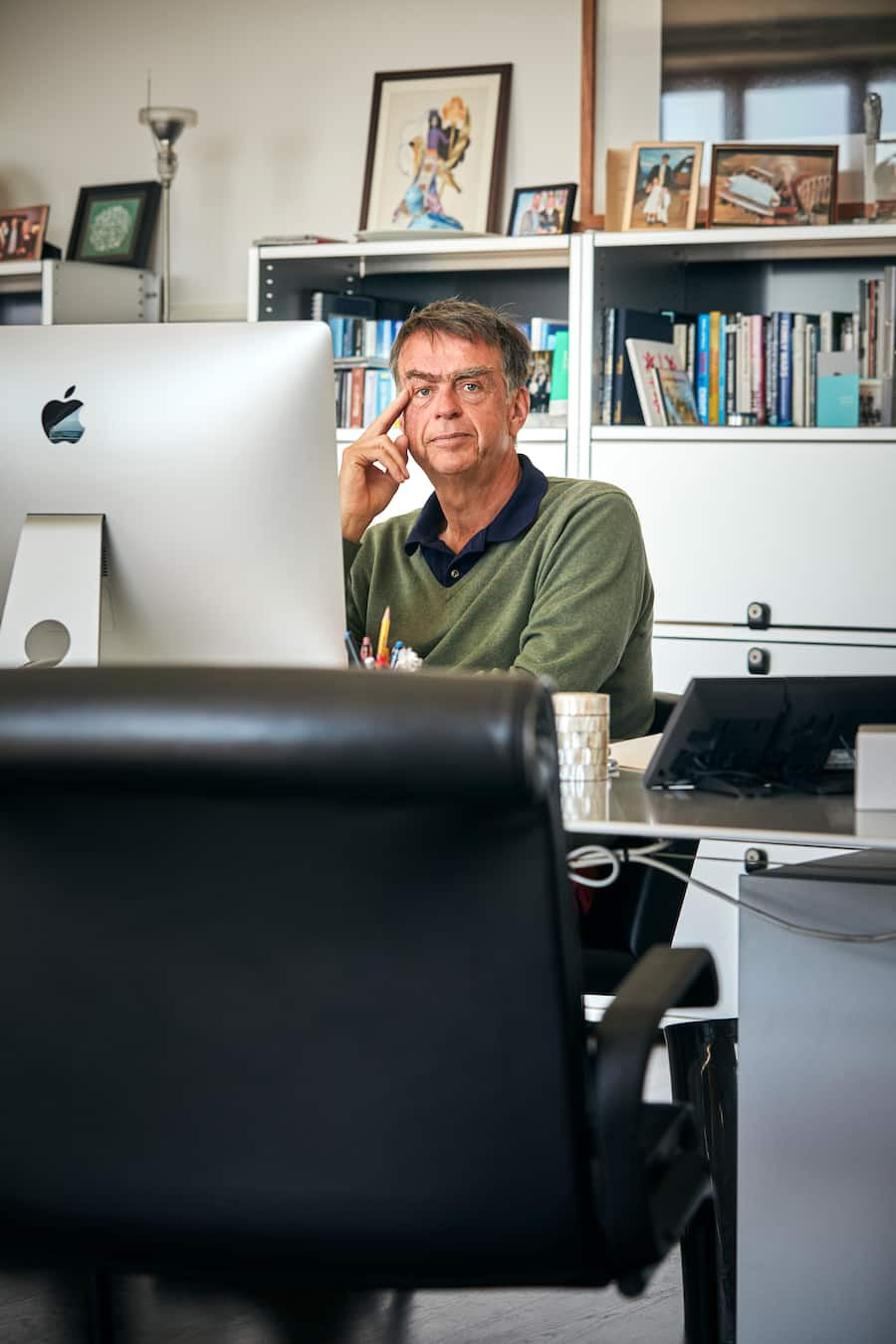 André Hoffmann, at her Office in Morges