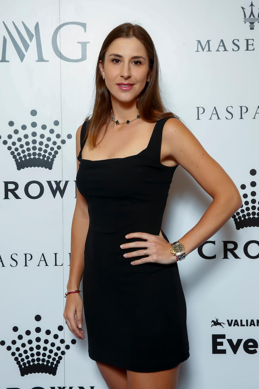 Belinda Bencic attends the Crown IMG Tennis Party on January 19, 2020 in Melbourne, Australia. (Photo by Sam Tabone/Getty Images)