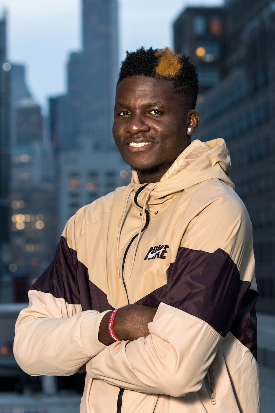 Clint Capela, Swiss professional basketball player for the Houston Rockets of the National Basketball Association (NBA), poses during a photo session in Manhattan, New York City, NY, USA, Thursday November 1st, 2018. (KEYSTONE/Dominic Favre)