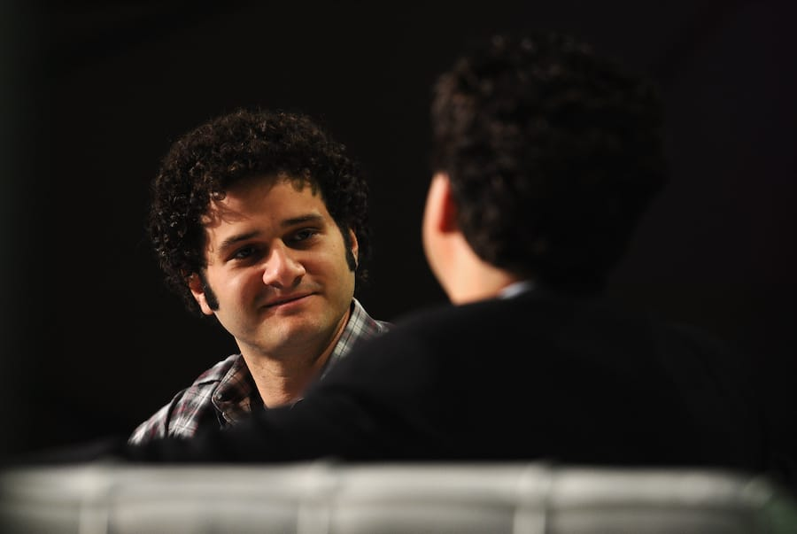 SAN FRANCISCO, CA - SEPTEMBER 12:  Asana Co-founder Dustin Moskovitz (L) speaks onstage at Day 1 of TechCrunch Disrupt SF 2011 held at the San Francisco Design Center Concourse on September 12, 2011 in San Francisco, California.  (Photo by Araya Diaz/Getty Images for TechCrunch)