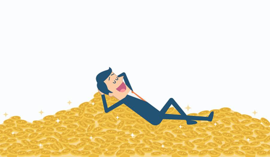 Pile of gold coins.