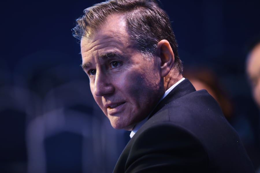 FILE: Ivan Glasenberg, billionaire and chief executive officer of Glencore Plc, speaks on the Bloomberg Television debate panel during the St. Petersburg International Economic Forum (SPIEF) at the Expoforum in Saint Petersburg, Russia, on Thursday, June 1, 2017. Photographer: Simon Dawson/Bloomberg