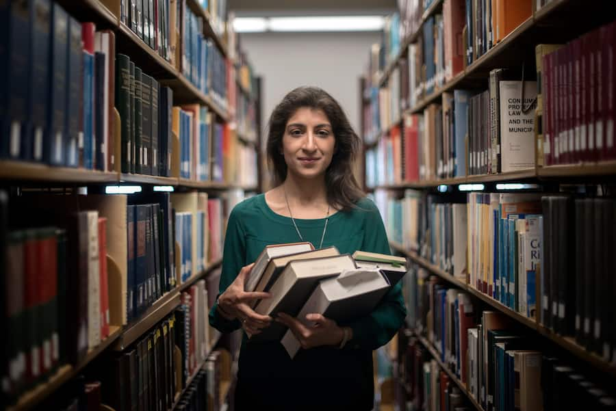 Lina Khan, a rising star in policymaking circles, at the Underwood Law Library at Southern Methodist University in Dallas, June 22, 2018. In two years, Khan has gone from unheralded law student to a formidable voice, whose work on antitrust policy has rocked Washington policymaking circles. In her crosshairs: Amazon. (Brandon Thibodeaux/The New York Times)